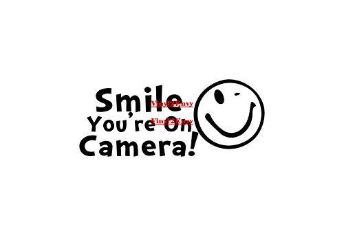 Smile Youre Op Camera Muursticker Vinyl Muurstickers CCTV Decal Zakelijke Decal Beveiliging Decal Winkel Decal Voordeur Decal