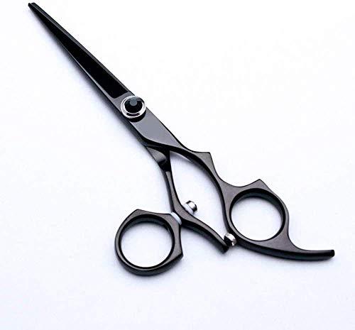 HZWLF Ciseaux de Coiffure Ciseaux de Coiffeur 5,5 Pouces Coiffeur Professionnel Coupe de Cheveux Plat créatif Cercle poignée 440Cflat + Outils de Style de dent