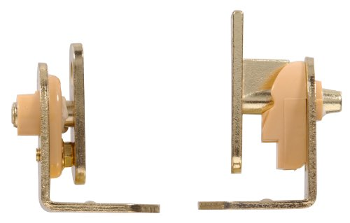 The Hillman Group 851593 Cafe Door Hinges, Brass Finish