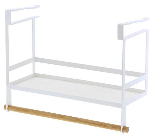 YAMAZAKI Tosca Küchenregal, Stahl, Weiß, One Size