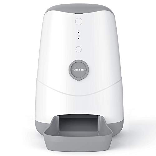 MAYER'S BEST Automatic Cat Dog Feeder Smart Feeder, Wi-Fi Enabled Pet Feeder with Smartphone App Control for iPhone and Android, WiFi 2.4GHz only