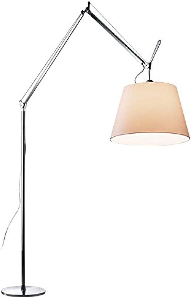 Artemide,lampada da terra,base in alluminio lucidato,diffusore in carta pergamena 0779010A+0778010A+0780020A