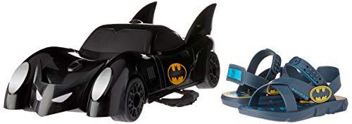 Chinelo Grendene Batman Batmovel Meninos S: Azul/G: Azul/Amarelo 32/33