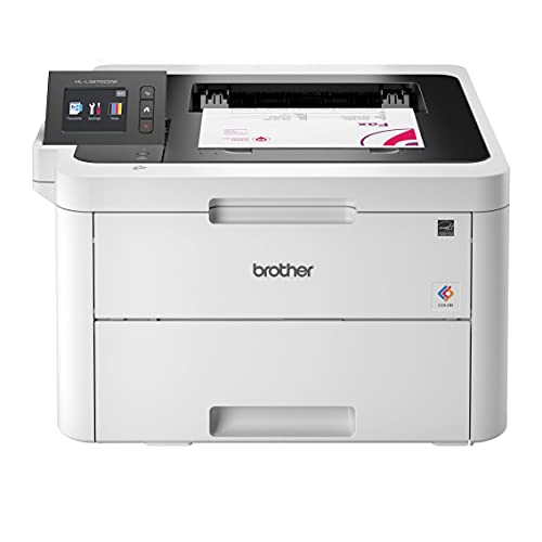 Brother HL-L3270C Compact Wireless Digital Color Laser Printer with NFC for Home Office - Print Only - 2.7' Color Touchscreen, Auto Duplex Printing, Speed Up to 25 ppm, 250 Sheet