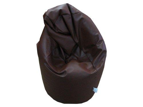 Natalia Spzoo Puff Bean Bag puf butaca Polipiel para Adultos y Adolescentes (Marrón)