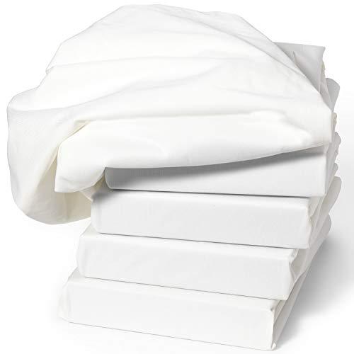 Dr. Güstel Waschfaserlaken ® Spannbezug SPECIAL weiss Liegenschutz folienbeschichtet 1-seitig PU-Folie 70x190x10 cm OEKO-TEX®-zertifiziert 2er Pack Spannbettuch für Behandlungsliegen