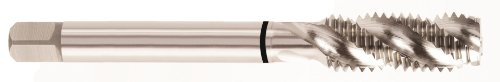 YG-1 - T5426C T5 Series High Vanadium HSS Spiral Flute Combo Tap, TiCN Coated, Round Shank with Square End, Modified Bottoming Chamfer, M10-1.5 Thread Size, D6 Tolerance
