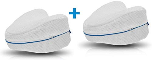 LP Leg Pillow | 2 Stück | Komfort für Seitenschläfer | ergonomisches Knie- und Beinruhekissen | stützt Ihre Knie & Beine | Memory Foam Kissen | Polster | Original aus TV…