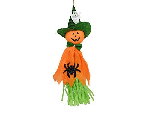 ILOVEDIY Fantome Tissu Citrouille Halloween Decoration Interieur Exterieur Enfant Kit Accessoires (Oragne-1)