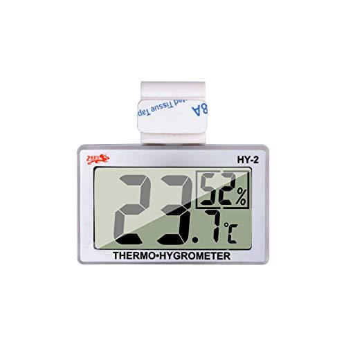爬虫類温度計湿度および温度センサーゲージデジタル爬虫類温度計デジタル爬虫類タンク温度計フック付き湿度計爬虫類タンク、テラリウム、動物園に最適