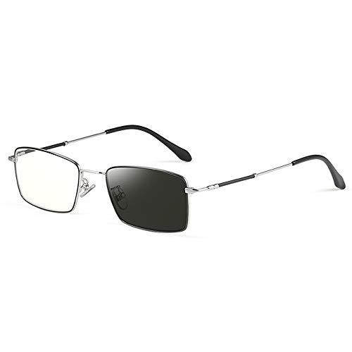 CXNEYE Gafas De Lectura Progresivas Fotocromáticas De Negocios para Hombres Y Mujeres Anteojos Multifocales De Alta Definición Gafas De Sol UV400 Antirreflejos Gafas