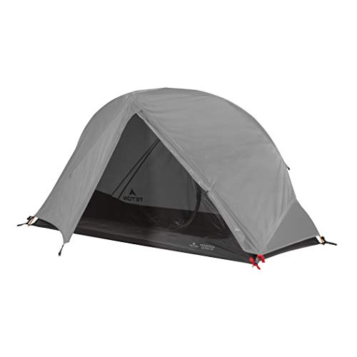 TETON Sports Mountain Ultra Tent; 1 Person Backpacking Dome Tent for Camping; Grey (2005GY)