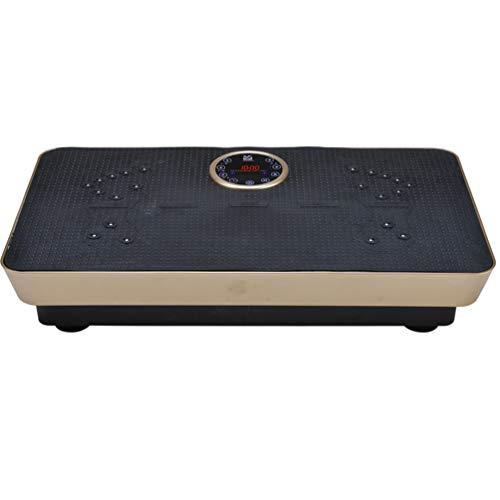 GEEFSU-Plataforma de Vibración Equipo de Ejercicio de Eliminación de Grasa Corporal de Todo El Cuerpo,Equilibrio para El Hogar y La Oficina Gimnasio,Oro