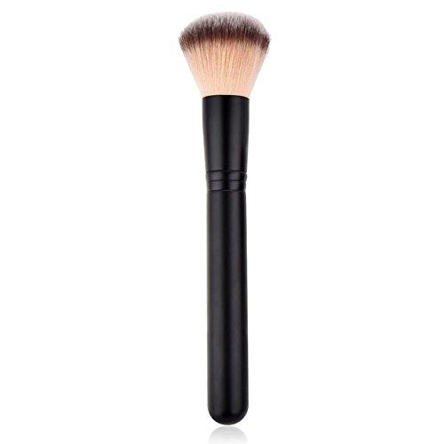 LLHJ Brocha de maquillaje en polvo de oro rosa para base de sombreado, contorno, iluminador, brocha de maquillaje, bronceador, corrector, cosmético