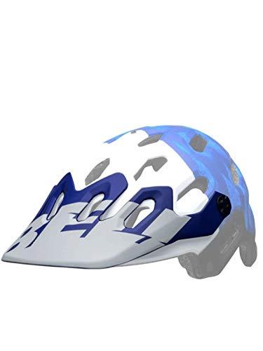 BELL Super 3/3R - Visera para Casco (Talla única), Color Blanco y Azul
