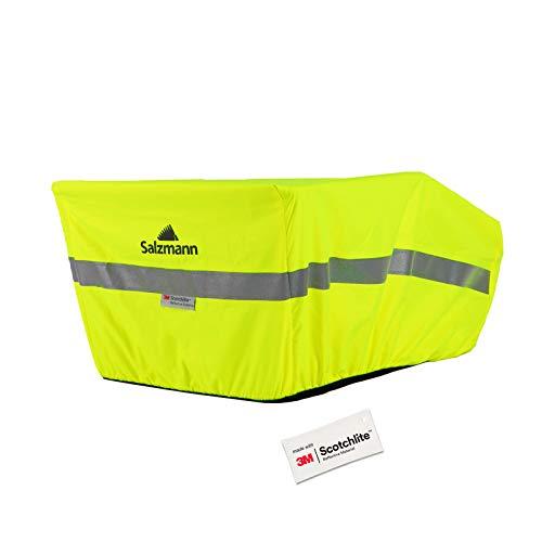 Salzmann 3M Reflektierender Regenschutz für Fahrradkörbe - wasserdichte Korbabdeckung - Hergestellt mit 3M Scotchlite