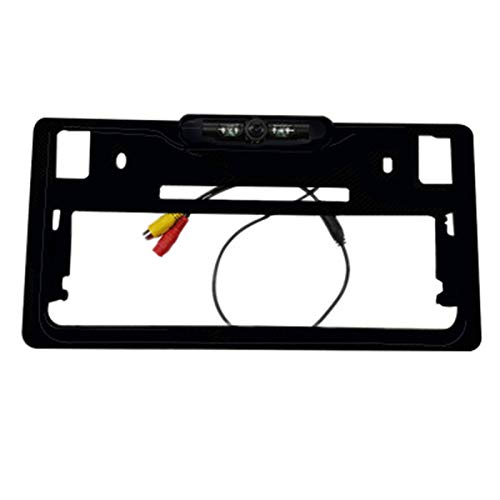 Naliovker Japanese Car Number License Plate Frame Holder Rear View Backup Camera 2 in 1 License Plate Frame