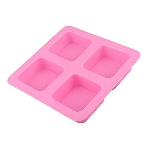 B Blesiya - Juego de 4 moldes cuadrados para jabón de silicona
