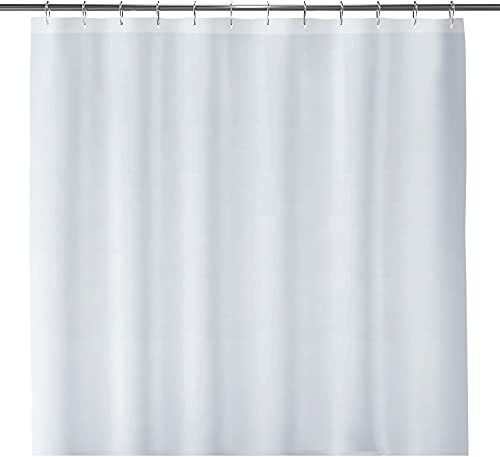 "LiBa Fabric Bathroom Shower Curtain, 72"" W x 72"" H White Heavy Duty Waterproof Shower Curtain"