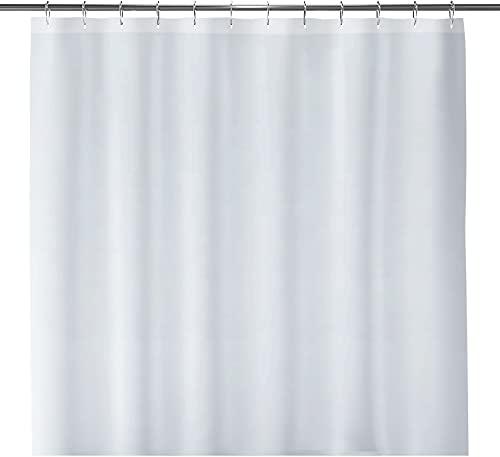 LiBa Fabric Bathroom Shower Curtain, 72' W x 72' H White...