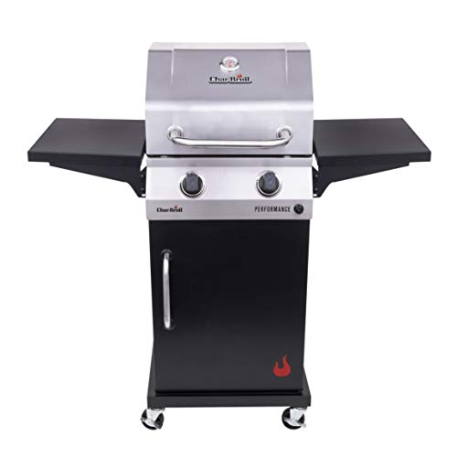 Char-Broil 463660021 Performance 2-Burner Cabinet-Style Liquid Propane Gas Grill, Stainless/Black Grills Propane