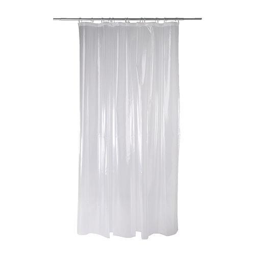 Ikea Nackten shower curtain, transparent clear