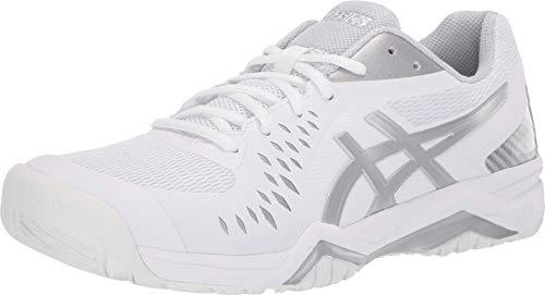 ASICS Men's Gel-Challenger 12 Tennis Shoes, 11M, White/Silver