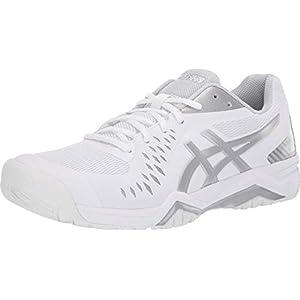 ASICS Men's Gel-Challenger 12 Tennis Shoes, 10.5, White/Silver