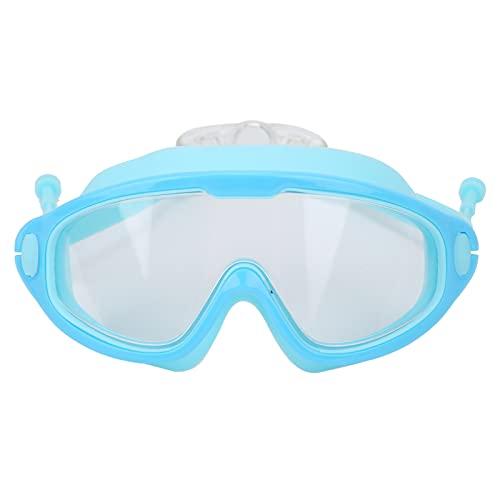 XINL Gafas de natación para niños, portátiles, sin Fugas, protección UV, Gafas de natación, Gafas de natación para Surfear, Gimnasio, bañarse, Nadar(Blue, Love Type)