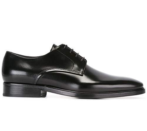 Lanvin - Zapatos de Cordones de Cuero para Hombre Negro Negro