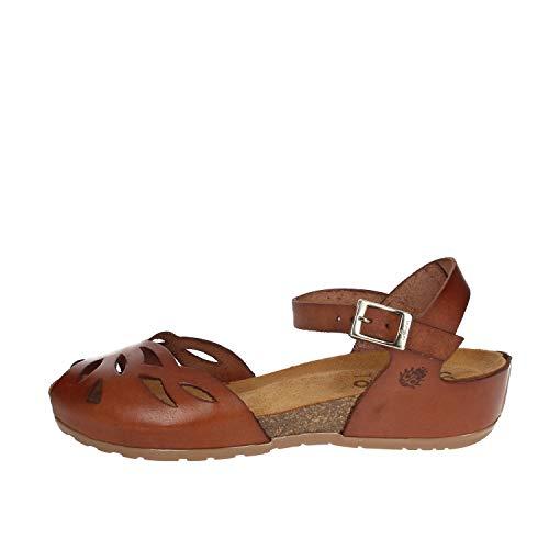 Yokono Capri 003 Jeans walnoot sandalen met armband voor dames