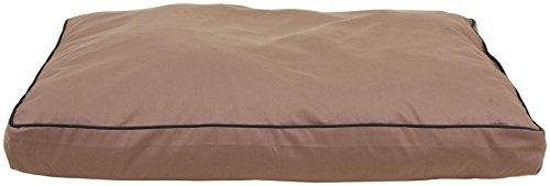 Carolina Pet Jamison Indoor/Outdoor Faux Gusset Bed for Pets, Tan/Green, Medium
