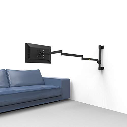 ALXDR Soporte De Pared Superior para Monitor De Pared Y Soporte para Brazo De TV, Brazo Neumático Largo Súper Largo para Monitor De Computadora De 19'-24', Televisores