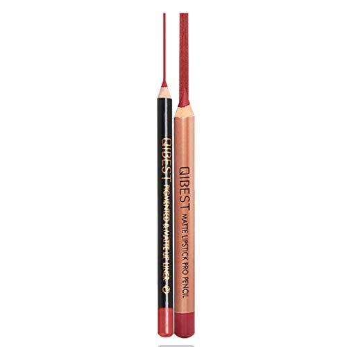 Lippenstift Matte Langlebigen Lipgloss Lipstick Wasserdicht Mattglanz Lip Liner Kosmetik Lipliner...