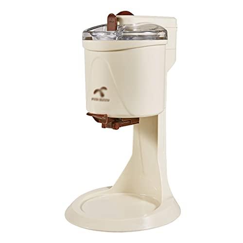 Toppings Máquina De Helado De Verano para Aliviar El Calor Pequeña Mini Máquina Automática De Cono para El Hogar Máquina De Helado Casera (Color : Creamy-White, Size : 27 * 42.5cm)