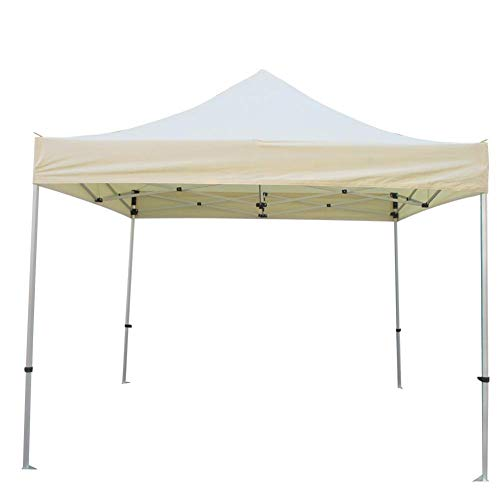 Sunronal Gazebo Cover Replacement Roof with PVC Coating Waterproof Polyester Fabric Replacement Roof Party Tent Tarpaulin 3 x 3 m for Gazebo, Red Wine, Beige
