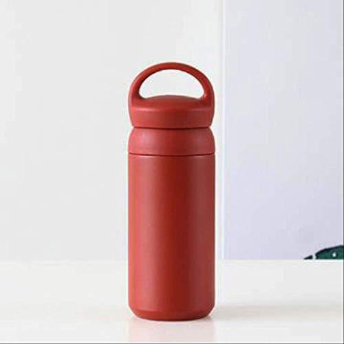 WEIWEIFA Neue 304 Edelstahlbecher niedlichen Studenten einfache Mini Kinder Wasser Tasse Edelstahlbecher 350 ml Rot