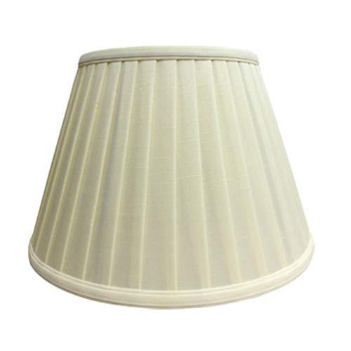 FABBD E27 Pantalla de Lino Redonda lámpara de lámpara, 100% Pura de Mano lámpara de Noche lámpara de Pared lámpara de pie Pantalla (araña 13CM-45CM),Beige,26CM×50CM