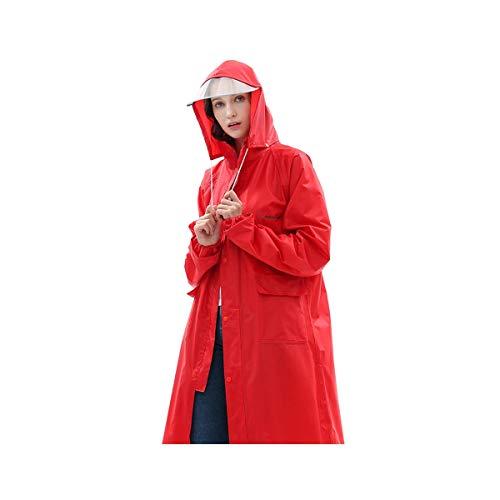 HUIJUNWENTI Einzelner langer Regenmantel, Windbreaker-Poncho, wasserdichter Regenmantel für erwachsene Wandermode, blau, rot, grün, gelb, pink, Regenmäntel, Regen zu verhindern,