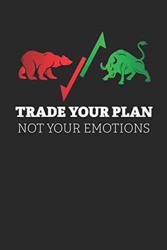 Notizbuch: Aktien, ETF, Fond, Reit und Anleihen Notizen für jeden Trader, Aktienhändler oder Privatanleger ♦ über 100 Seiten für alle Notizen, Kurse, ... 6x9 Format ♦ Motiv: Trade your plan 6