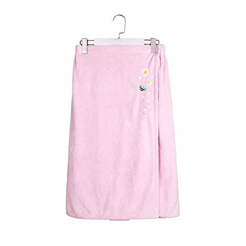 GKXAZ Microfibra Albornoz Ducha Femenina Adulto Suave Secado rápido Toalla de baño (Color : Pink, Size : 1pc)