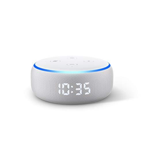 Echo Dot (3ª generazione) Ricondizionato Certificato, Altoparlante intelligente con orologio e Alexa, Tessuto grigio chiaro