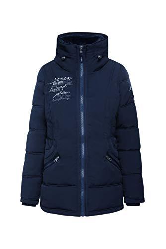 SOCCX Damen Winterjacke mit Doppelkragen