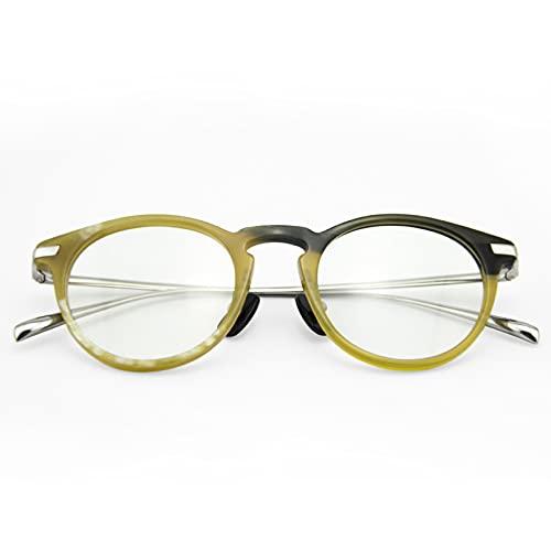 BAJIE Gafas de Sol, Gafas Populares, Montura de Personalidad, Montura Grande, Montura de Cuerno, Gafas Hechas a Mano