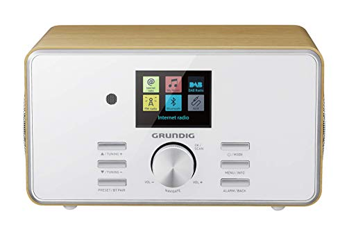 "Grundig DTR 5000 2.0 BT DAB+ WEB ""All-in-one""-Internetradio mit Bluetooth und Empfang Eiche"