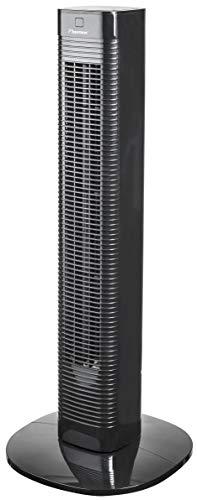 Bestron Ventilador de Columna, Función Giratoria y Temporizador, Altura: 80 cm, 50 W, Negro
