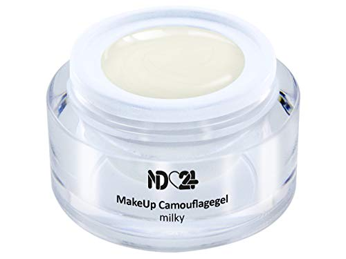 15ml - Make Up CAMOUFLAGE Aufbau - Gel milky - BESTSELLER - BabyBoomer Naildesign UV Gelnägel Nagelgel - Studio Qualität - MADE IN GERMANY