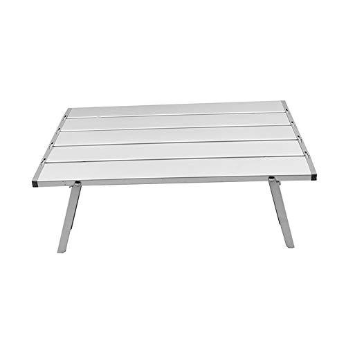 Yaunli Klapptisch im Freien Kleiner, einfach zu lagernder rechteckiger Aluminium-Klappbock for den Innen- und Außenbereich (40 x 29 x 12,5 cm) Ultraleichter tragbarer Tisch
