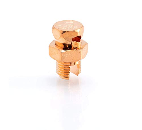 Size #8 Grounding Split Bolt - Superior Strength Split Bolt Connector Number 8 for Copper Conductors - Bonding and Grounding Tools Edition - UL Listed - Antenna, Satellite Dish, Cable TV - 1 Pack