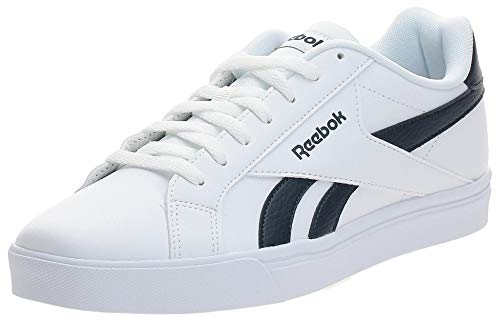 Reebok Herren Royal Complete 3.0 Low Sneaker, White/Collegiate Navy, 43 EU